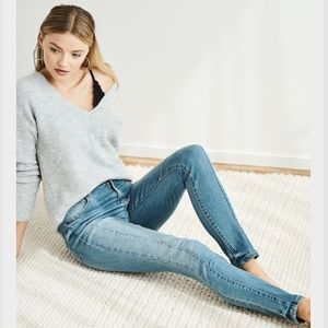 Kate High Rise Skinny Jeans With Seam Detail